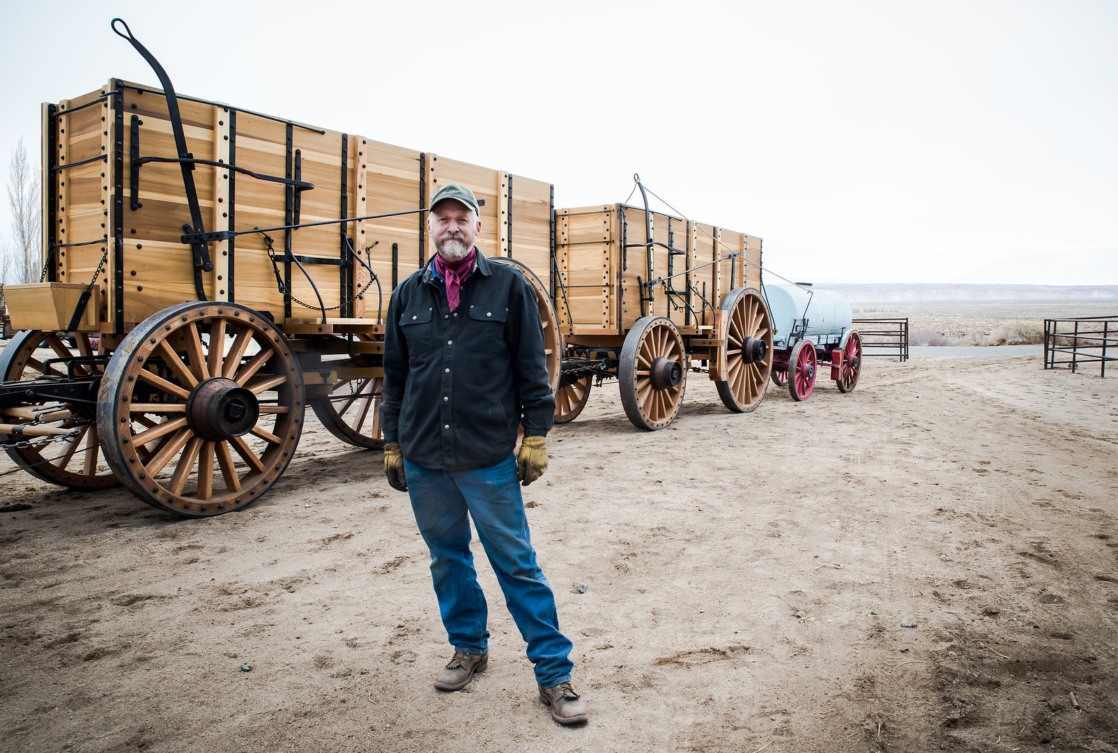 1880s Style Wagon Building Of The 20 Mule Team Borax Wagons At
